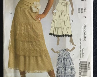 McCalls Misses Womens Tiered Layered Skirts Sewing Pattern M5275  UC Uncut FF Size  xs s m 4 6 8 10 12 14