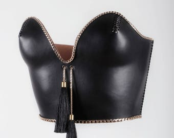 Leather Corset Leather corsage Leather
