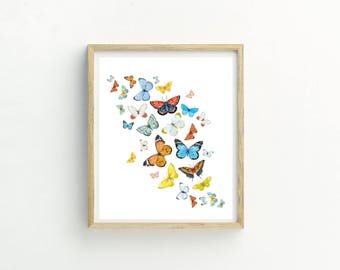 Cloud of Butterflies Print | Butterflies Print | Butterflies Pattern | Sale Art | Butterfly Picture | Butterfly Wall Art | Butterfly Picture