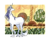 The Last Unicorn, Gouache...