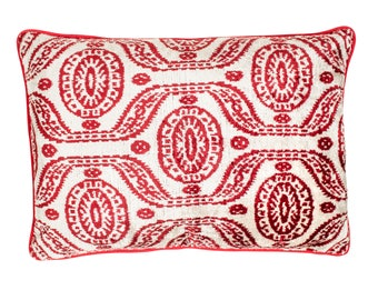 Heritage Silk Velvet ikat Pillow,ikat Fabric Pillow,Handmade Velvet İkat Pillow, Decoratif Pillow CD-707