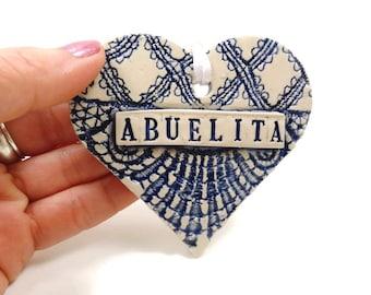 Abuelita Heart Ornament, Spanish Grandmother, Gift for Abuelita, Abuelita Birthday, Grandparent Gift, Abuela gift, Spanish Grandma