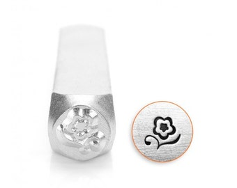 Blossom Metal Design Stamp 6mm - ImpressArt - Stylized Flower Blossom Design