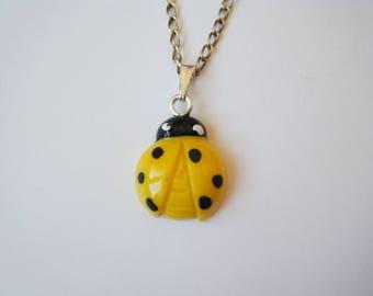 Pendentif♥ Ladybug yellow ♥