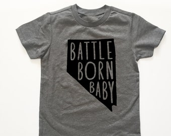 Battle Born Baby Nevada pride Tshirt