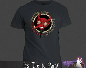 The Nightmare Before Christmas - It's Time to Party!  (Unisex/Ringspun/Ladies) Tshirt