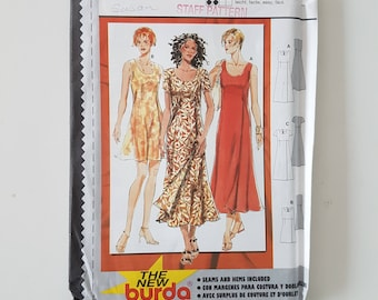 "Loose Fitting Dress Sewing Pattern Empire Waist and Wrap Front Vintage 90s Size 8-18 Bust 31.5-39.5"" (80-100 cm) Burda 2933"