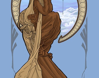 Bespin Leia  Postcard (Item 09-003)