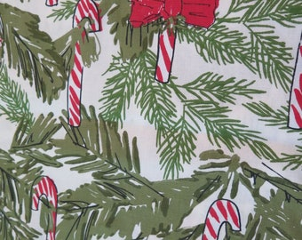 Vintage Vera Neumann Candy Cane Christmas Table Runner