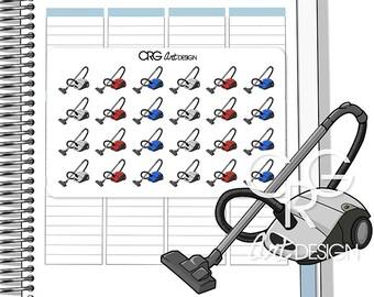 Vacuum Cleaner Stickers | Planner Erin Condren Plum Planner Filofax Sticker