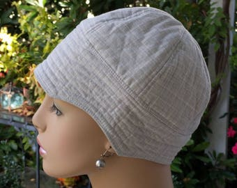 Cancer Cap SALE Sun Hat Hair Loss Hats Cotton Hat Reversible    SMALL/MEDIUM