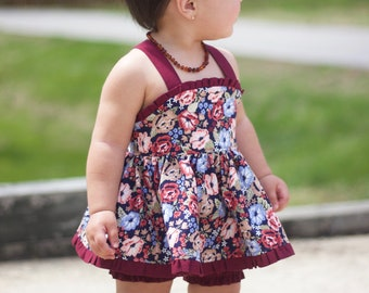 Pinafore top with bloomers