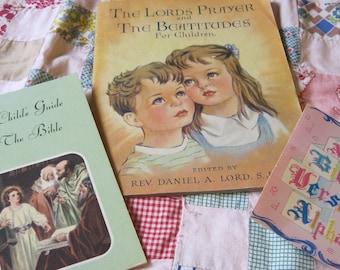 Three Little Christian Booklets for Children Beatitudes Alphabet Bible Verses