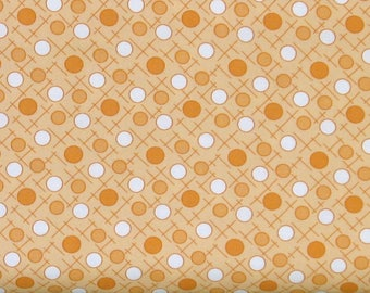 White and Orange Dots on Soft Orange Background Cotton Quilt Fabric, Berries & Blossoms by Maywood Studios, Fat Quarter, Yardage, MAS8841-O