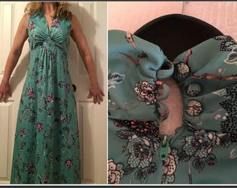 Vintage 1970s Wendy Lane Maxi Dress - Size 6