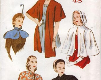 Butterick Retro 1940s evening wrap, shrug, shawl,reissued pattern uncut and factory folded Out of Print