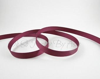 "Burgundy Grosgrain Ribbon - Wine - Maroon - You Choose Length & Width - 3/8"", 7/8"", 1 1/2"" -  Bow, Scrapbooking, Sewing, Art Craft Supplies"