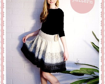 Knitting Pattern PDF - In the Clouds -  a knitting recipe for the skirt of your dreams! - high waisted skirt, romantic gathers, any size