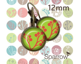 Mod Buds and Pods - 12mm x 12mm Round Earring and Pendant Images - Buy 2 Get 1 Free - Instant Download - Digital Sheet - Automatic Download