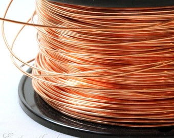 Copper Wire, 20 Gauge, Dead Soft, Solid Copper Wire, Jewelry Quality Copper Wire, Jewelry Wire Wrapping, High, Sold in 20 Ft. Length, 002
