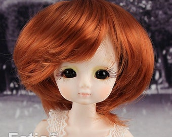 "Fatiao - New Dollfie Bisou AI BJD Dolls Wig - size 4-5"" - Carrot"