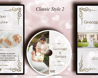 Printing Service. DVD/CD Case. Custom printed Classic Wedding DVD label and printed Disc. Your own Image and Text.