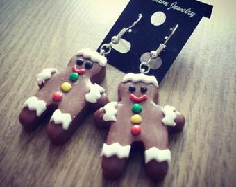 Gingerbread men Dangle earrings