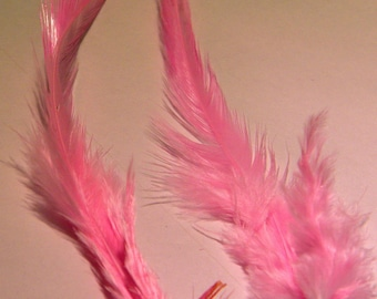10 natural feather - 10 to 16 cm-rose - liked 55