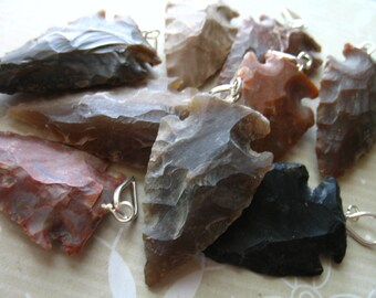 Jasper Arrowhead Arrow Head Pendant Charm, 35-50 mm, 1.5-2+ inch, rough raw wholesale arrowhead boho ap10.3.1 solo
