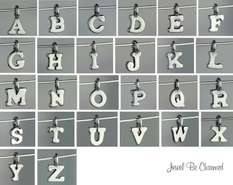 Sterling Silver Letter Charm Miniature A-Z Alphabet Tiny Solid .925
