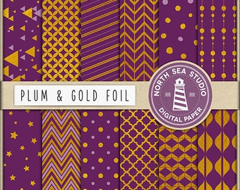 Limited Edition Gold Digital Paper | Scrapbook Paper | Printable Backgrounds | 12 JPG, 300dpi Files | BUY5FOR8