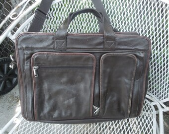 Vintage Wilson Leather Briefcase Attache Laptop Bag Tote Messenger Handbag