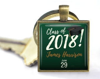 Class of 2018 Customized Pendant, Necklace or Key Chain - Graduation, Name, Date - Graduation Gift, Custom Gift