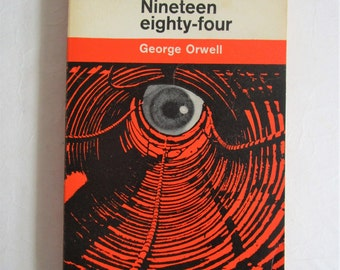 Vintage 1960s Paperback Book Nineteen Eighty Four George Orwell 1964 Reprint Germano Facetti Cover Fiction Book