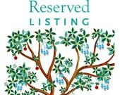 Reserved listing for Avi ...
