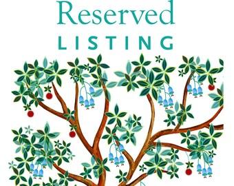 Reserved listing for Avi & Arianne