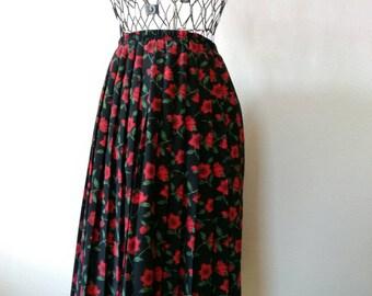 1970s Vintage Floral Leslie Fay Skirt