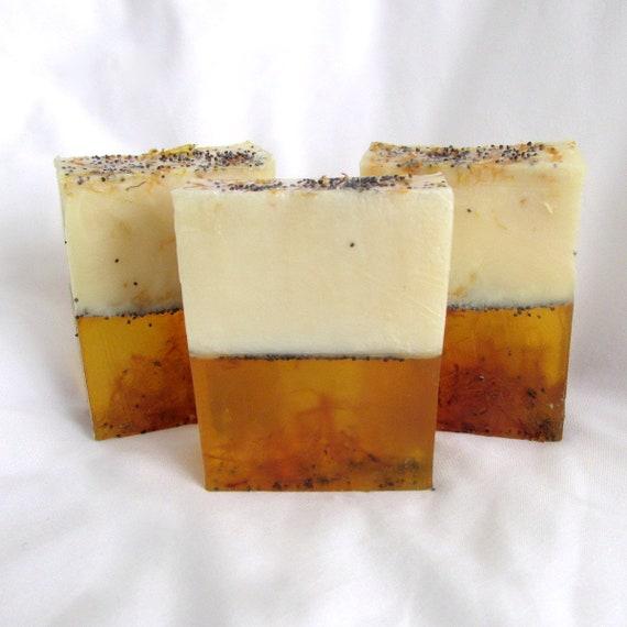Botanical Lemongrass Bar Soap (Handmade, aromatic, Moisturizing, soothing to skin, natural exfoliation) wt. 5oz net Stardust Soaps