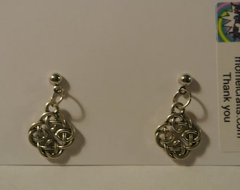 Silver Celtic Design with Silver Posts