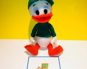 Disney Ducktales Duck Tales Louie Amigurumi Stuff Toy Duck Green