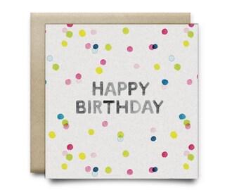 Confetti Surprise Small Greeting Card