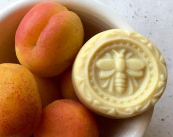 Apricot Lotion Bar - Natural Shea Butter - Gift for Knitter - Hand Lotion - Solid Lotion - Natural Lotion