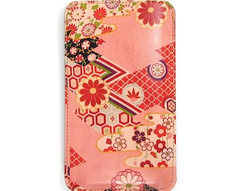 Leather iPhone 8 Case/ iPhone 7 Case/ iPhone SE Case/ Smartphone case - Kimono Collection No. 2