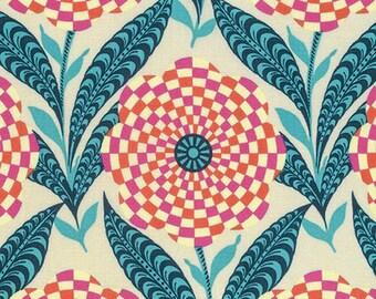 Amy Butler Eternal Sunshine Zebra Bloom in Linen cotton quilt fabric - fat quarter, Amy Butler fabric