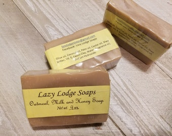 Oatmeal, Milk and Honey Homemade Shea Butter Soap