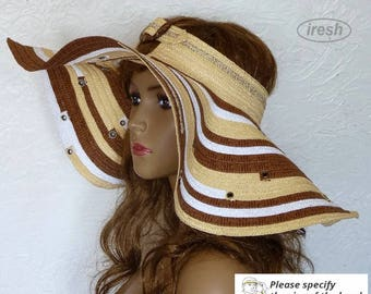 Wide-brimmed hat, Hat field, A hat with a wide brim, Summer hat, Women's Hat, Travel hat, Beach accessories