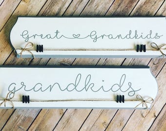 Great grandkids Sign