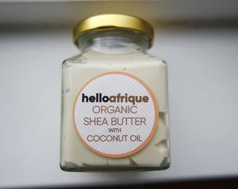 helloafrique Organic Whipped Shea Butter with Coconut Oil 180ml
