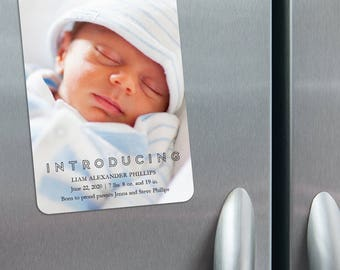 Introducing - Birth Announcement Magnets + Envelopes