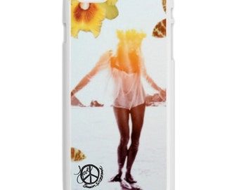 iPhone 6s/6, iPhone 6s/6 Plus Case, ORCHIDS AND OCEANS, iPhone6s, iPhone 6s Plus, Flowers, Surfing, Avail. with Black or White Sides